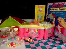 Vintage 1987 Barbie Ice Cream Shoppe Shop Real Ice Cream Maker & Original Box!