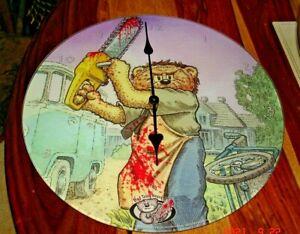 Bad Taste Bear Stitch Glass Wall Clock