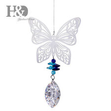 Handmade Butterfly Suncatcher Crystal Drop Hanging Rainbow Pendant Home Decor