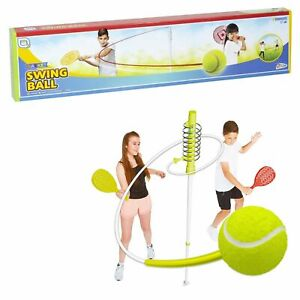 Swing Ball Classic Outdoor Tennis Game with Bats Kids Outdoor Garden Fun Games