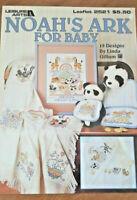Noah's Ark for Baby 19 Designs Leisure Arts 2521 Linda Gillum 1994 Cross Stitch