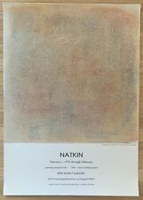 ROBERT NATKIN Original Vintage Exhibition Poster Jodi Scully Gallery 1977
