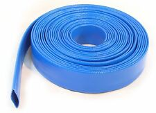 30 Ft Layflat Water Delivery Hose Discharge Pump Irrigation Blue Tubing 10Metres
