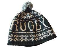 Ralph Lauren Rugby Beanie Hat Cap Green White Polo Bear Rare Sport