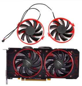 Fan For XFX Radeon RX 460 FDC10U12S9-C Cooler Replace RX460 Cooling Fans Red