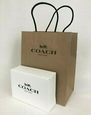 New Coach Gift Box and Gift Bag For Wallet 6.5 x 4.5 x 2 inches Authentic
