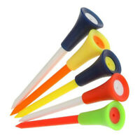 Golf Tees 50 Pcs Multi Color 83mm Durable Rubber Cushion Top Accessories