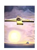 """Salvador Dali """"Homage to Dali"""" book w/ORIGINAL COLOR Lithograph by Dali, A+ Cond"""