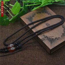 Natural Red agate JADE beads Brown Circle string cord rope for pendant A240
