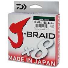 Daiwa J-briad X8 Briaded Fishing Line All Colours Lengths LB Tests 500m 37.5lb .22mm Dark Green