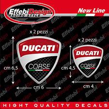 Adesivi/Sticker 4PZ DUCATI CORSE PANIGALE MONSTER 1098 1198 848 748 HYPERMOTARD