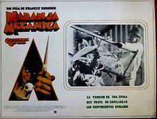 A CLOCKWORK ORANGE 1971 Sci-Fi Mexican Lobby Card MALCOLM McDOWELL Smash Glass