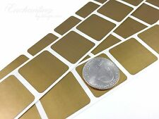 """50 - Scratch Off Labels 1"""" x 1"""" Gold Square Stickers"""