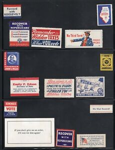 POLITICAL ELECTION POSTER STAMP LABEL COLLECTION