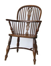 F WALKER of ROCKLEY - CHARMING YEW & ELM WINDSOR CHAIR FULLY SIGNED BY MAKER