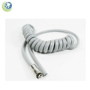 NEW DENTAL ASEPSIS COILED SILICONE HANDPIECE TUBING 7' HOSE 3-HOLE CONNECTOR