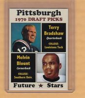 TERRY BRADSHAW / MEL BLOUNT '70 PITTSBURGH STEELERS DRAFT PICKS ROOKIE STARS