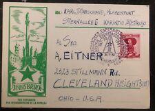 1951 Innsbruck Austria Postcard Cover To USA Esperanto Congress