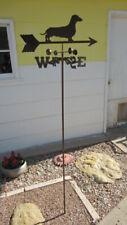 Metal Garden / Yard Dachshund / Weiner Dog Weathervane, Nib