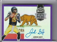 2016 LEAF DRAFT #SP-JG1 JARED GOFF AUTOGRAPH ROOKIE RC REFRACTOR RAMS 14/20 2147