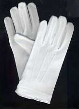 White Tuxedo Gloves Parade Dress Uniform Color Guard Stretchable Band Formal