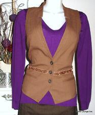 NOA NOA Baumwolle Wolle Jacke Weste vest Magpie Wool M 38 proven braun Jacke