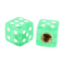 4 Pcs Green Cube Dice Shaped Cube Tire Valve Stem Caps for Car D3C7