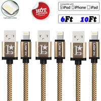 For iPhone 11 6 7 8 Plus XS XR Lightning Cable Heavy Duty Charging Cord Charger