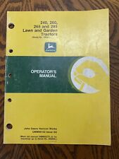 John Deere 240/260/265/285 Lawn & Garden Tractor Operator Manual Om-M79648 D9 A6