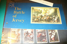 BATTLE OF JERSEY 4 STAMPS MINT UNUSED 1981