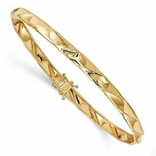 14k Yellow Gold 5mm Polished Twisted Bangle Bracelet