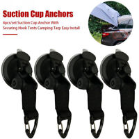 4x Suction  Cup Securing Hook Tie Down for Camping Tarp Car Side Awning