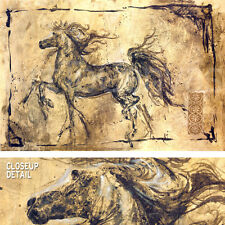 """46""""x31"""" POETRY OF MOTION by MARTA WILEY CLASS HORSE CANVAS"""