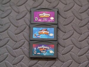 Lot Nintendo Game Boy Advance GBA Games Power Rangers: Ninja Storm Dino Thunder+