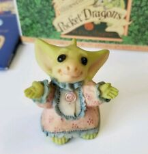 """""""Flannel Nightie"""" Whimsical World of Pocket Dragons by Real Musgrave with Box"""