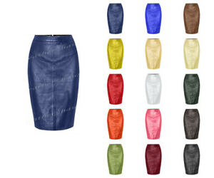 Genuine Leather Sexy Lady Calf Length Pencil Skirt Office lady Club skirt #S34