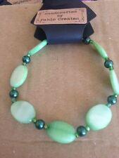 Pulsera Perla de la cáscara verde, verde Pulsera-sólo 1 disponible!