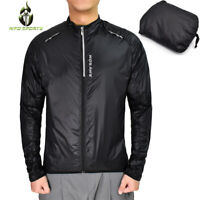 Mens Cycling Skin Coat Windproof Small Rain Waterproof Sun Protective Jackets
