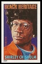 US 4856a Black Heritage Shirley Chisholm imperf NDC single MNH 2014