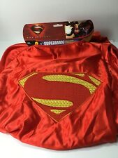 """NWT RUBIES Adult Super Deluxe Superman 54"""" Cape Costume Accessory"""