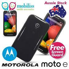 Motorola Moto E 1st gen TPU Gel Jelly Case Cover - Smoke Black