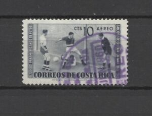 """No: 99772 - COSTA RICA - """"FOOTBALL/SOCCER"""" - AN OLD STAMP - USED!!"""