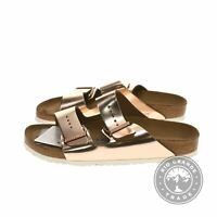 New with Defect Birkenstock 00752483 Arizona Sandals in Metallic Copper - 9