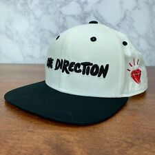 One Direction 1D Hat Snapback White & Black Adjustable Tour Merchandise