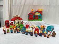 ELC Happyland Bundle Fire Station Garage Vehicles Figures VGC
