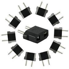 10PCS US to EU AC Power Plug Portable Travel Converter Adapter Useful in EU Nice