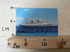 CARDBOARD POSTCARD ? HOLLAND AMERICA CRUISES SS NIEUW AMSTERDAM SHIP BOAT