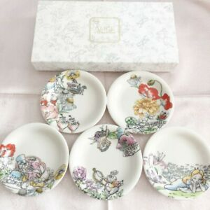 Disney Alice in Wonderland 5 Small plate set From Japan