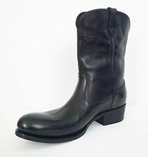 NIB Authentic TOM FORD Black *CHRISTOPHER* LEATHER COWBOY Boots Shoes 8