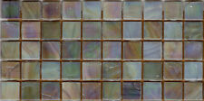50pcs NP2 Oyster Pearl Natura Glass Mosaic Tiles Iridescent 15x15x4mm Paperfaced